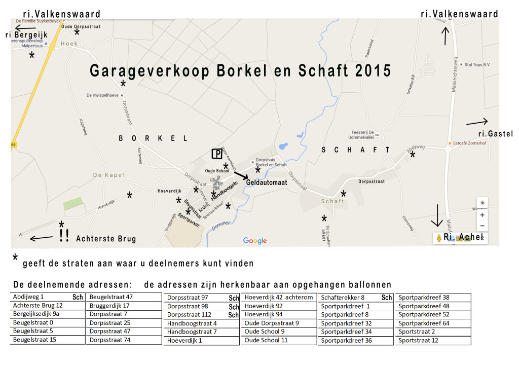 Platte grond deelnemers2015
